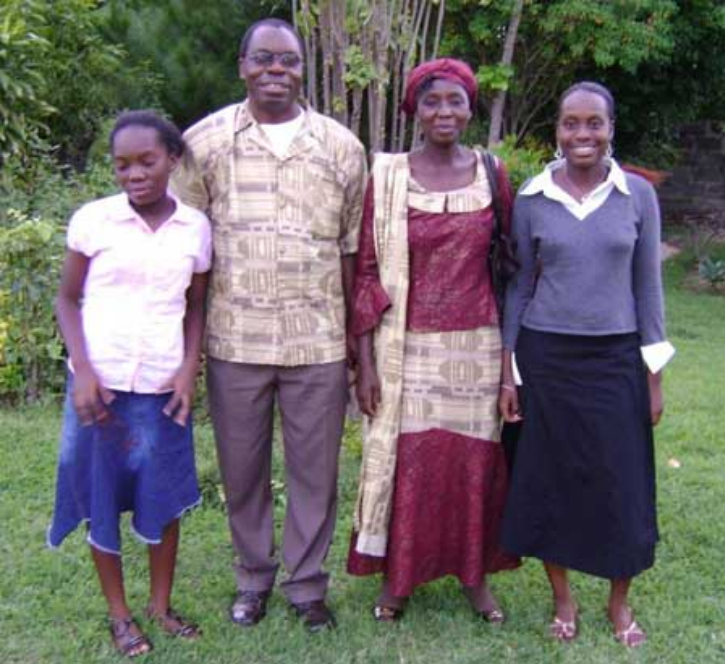 The Nsedulukas (from the left): Kavuyi (daughter), Kapambwe, Sylvia (wife) and Mukupa (daughter)