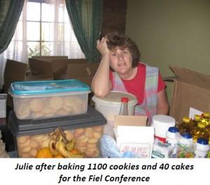 Julie after baking cookies