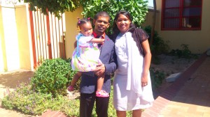 Quintin, Jennifer Maneville and daughter Zoe (2 years)