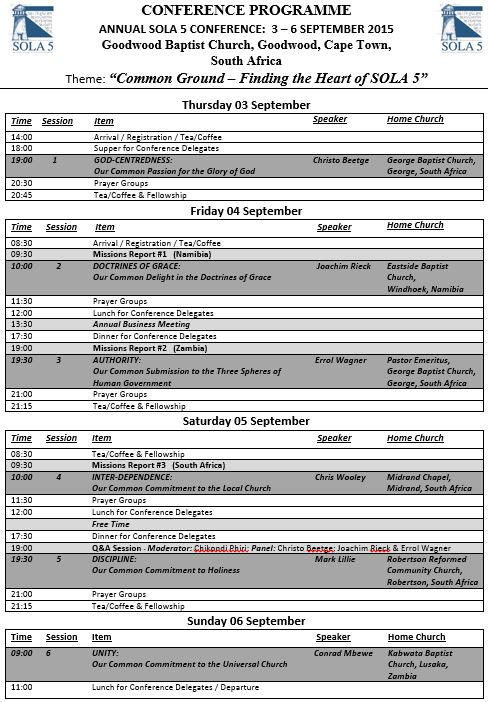 Final 2015 Conference Programme